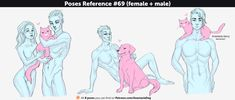Poses Reference #69 (female + male) by Anastasia-berry on DeviantArt