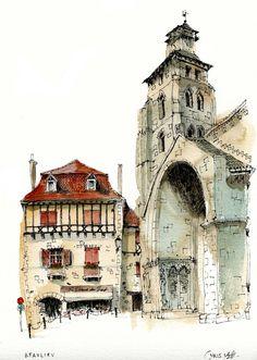 Urban sketch architecture