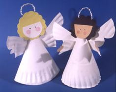 paper plate christmas angels - toddler craft