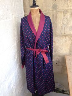 Fabulous Vintage Tootal Men s Spotted Dressing Gown Size M £10.00