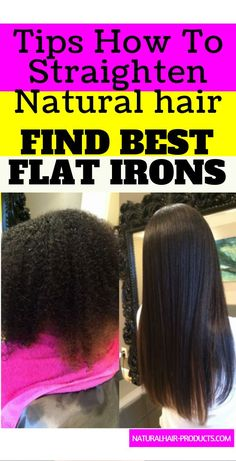 You wanna see the 10 BEST flat iron for natural hair silk press? Top-rated straighteners for thick coarse 4C hair, BabyLiss titanium, GHD Pro, HSI reviews... Pressed Natural Hair, Long Natural Hair, Natural Hair Styles For Black Women, Au Natural, Going Natural, Natural Curls, Natural Hairstyles For Kids, Black Women Hairstyles, Mommy Hairstyles