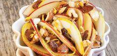 Lekka sałatka z jabłek, rodzynek, orzechów i gruszek Tacos, Mexican, Ethnic Recipes, Food, Essen, Meals, Yemek, Mexicans, Eten