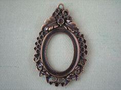 1PC  Antique Bronze Pendant Setting  27x37mm  Jewelry by ZARDENIA, $2.85