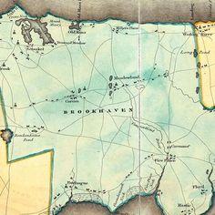 Mount Misery? Old Mans? Drowned Meadow? Town of Brookhaven, 1829 Burr Atlas of New York (Special Collections, Stony Brook University Libraries). #stonybrook #brookhaven #portjefferson #setauket #mountsinai #millerplace #coram #patchogue #longisland #seawolvesread