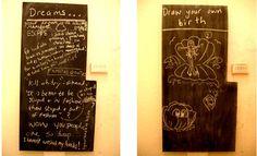Blackboard interactive art project Interactive Art, Blackboards, Zine, Artist, Projects, Blog, Log Projects, Blue Prints, Artists