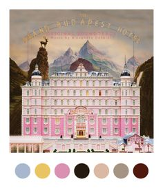 paletas de color en el Gran Hotel Budapest