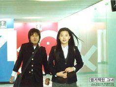 My Sassy Girl (엽기적인 그녀) - Movie, 2001. Cast: Jeon Ji-hyeon, Cha Tae-hyeon
