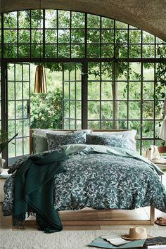 Súprava bavlnených obliečok - tlmená zelená - HOME | H&M SK