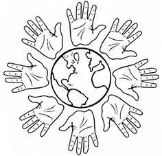 Colorear día de la Paz y día de la tolerancia 11