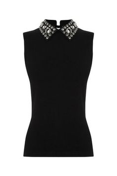 Jewel Collar Top | Oasis