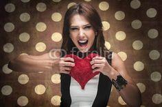 Frau zerreißt ein Herz My Images, Crochet Earrings, Drop Earrings, Adobe, Photography, Pictures, Heart, Woman, Photograph