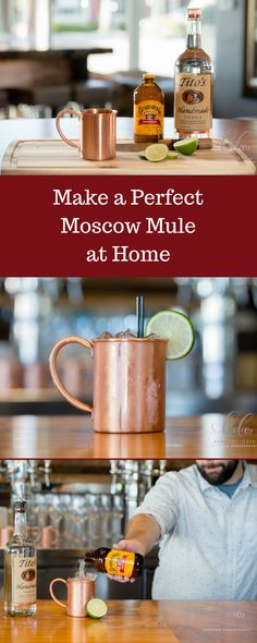 Make an amazing Moscow Mule at home. Here's the perfect recipe for an easy and delicious Moscow Mule. Get your copper mugs ready for this classic drink and a fun twist. Summer Drinks, Cocktail Drinks, Fun Drinks, Alcoholic Drinks, Beverages, Beer Recipes, Alcohol Recipes, Drink Recipes, Moscow Mule Drink
