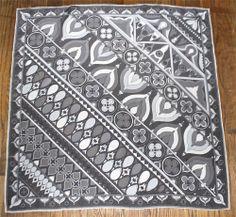 Emilio Pucci vintage  grey abstraxt temple print scarf Mid Century