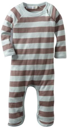 Amazon.com: Under The Nile Apparel Baby-Boys Newborn Long Sleeve Footless Romper, Misty Blue, 9 Months: Clothing
