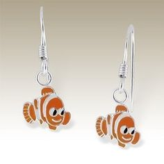 Clown Fish Sterling Silver Earrings