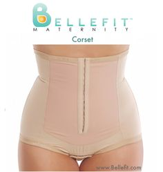 "Recover Your Post Baby Body with Bellefit after C-section or Natural Birth. Women who wear Bellefit after giving birth say that Bellefit helps them feel ""together, aligned and well-supported."" The Bellefit Corset gives you Medical-Grade Compression during Post Pregnancy recovery after natural or C-section childbirth. The Bellefit Corset has 2 rows of hook-and-eye closures in the front that can be adjusted so you can tighten your girdle when additional compression is needed."