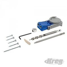 Kreg Jig Jr pocket boring set