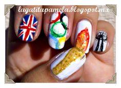 Gatita's nail art: olympic nails- Unias olimpicas (petición)