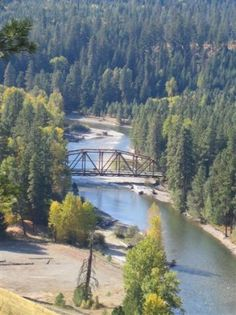 Tumble Creek Bridge and Cle Elum River from the back of The Lodge at Suncadia.