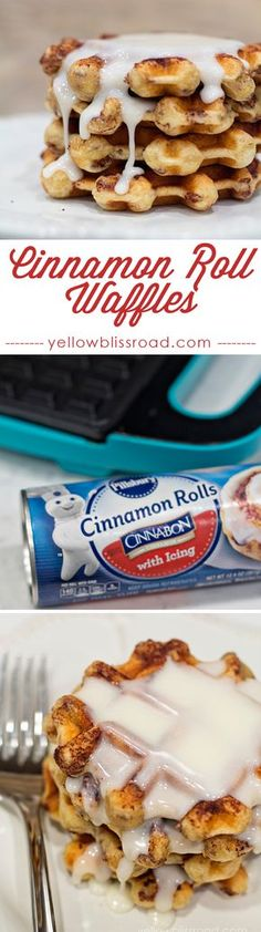 How to Make Super Easy Cinnamon Roll Waffles