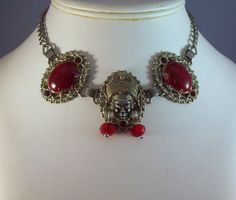 Vintage Selro Asian Princess Necklace Red by LynnHislopJewels, $39.99