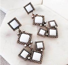 * Amazing earrings on antique metal base. Antique Metal, Ear Piercings, Tuscany, Cufflinks, Antiques, Bracelets, Earrings, Accessories, Jewelry