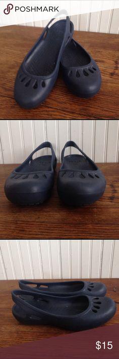 Crocs navy flats size 9 Crocs navy flats size 9 , good condition CROCS Shoes