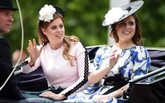 Princesses Beatrice and Eugenie at the Trooping the Colour ceremony, 8 June 2019 . Their father the Duke of York is the Colonel of the… Duchess Of Cornwall, Duchess Of Cambridge, Queen's Official Birthday, Princess Eugenie And Beatrice, Horse Guards Parade, London Theatre, House Of Windsor, Duke Of York, Duke And Duchess