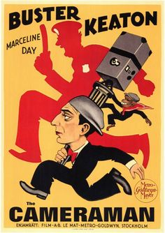 The Cameraman (1928) Original theatre poster for Swedish release