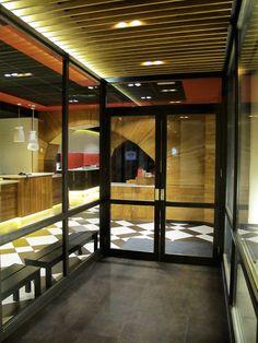 Mostaza design | Da Nicola | Madrid | Italian restaurant | Entrance | #mostazadesign #restaurant #madrid #interiordesign #interiors #italianfood