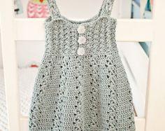 Crochet PATTERN  Scalloped Neckline Lace Dress baby