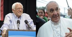 Bernie Sanders is travelling to the Vatican the same day Hillary Clinton is fundraising with a former Goldman Sachs executive. You can't make this stuff up.