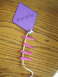 kite clothespin color match activity - good for toddlers