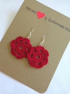 Crochet Jewelry Etsy Inspiration Ideas For 2019 Crochet Jewelry Patterns, Crochet Earrings Pattern, Crochet Flower Patterns, Crochet Bracelet, Crochet Accessories, Crochet Flowers, Crochet Jewellery, Love Crochet, Bead Crochet