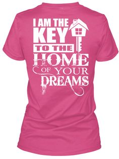 Limited Edition Real Estate Agent Wow Pink T-Shirt Back
