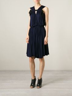 Lanvin Sleeveless Pleated Dress - Al Duca D'aosta - Farfetch.com