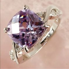 Beautiful ring Especial tourmaline white topaz gemstone silver plated jewelry ring size 8 Jewelry Rings