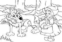 maerchen rotkäppchen und der wolf   kostenlose märchenvorlagen zum ausmalen   fasching