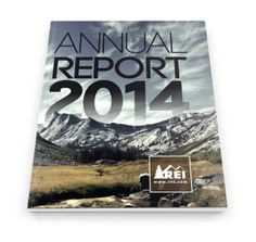 Recreational Equipment Inc., REI Annual Report by Anthony Camacho, via Behance