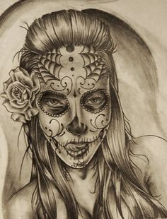 My Day Of The Dead Girl design for a customer. Commission designs available, just message me.