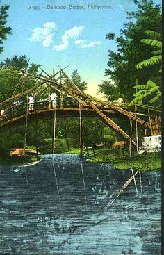 Bamboo bridge Philippine Art, Filipiniana, Asia, Philippines, Spanish, Scene, Bridges, Spanish Language, Spain
