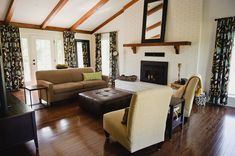 How To Paint A Dated Brick Fireplace