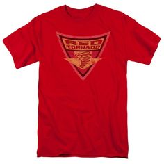 Batman: The Brave and the Bold Red Tornado Shield Red T-Shirt