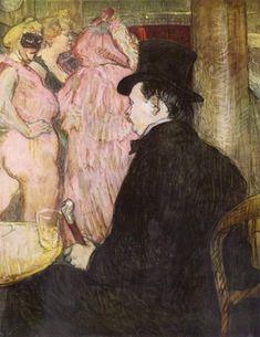 Maxime Dethomas At the Ball of the Opera, 1896, Henri de Toulouse-Lautrec Size: 67.5x62.5 cm Medium: oil on cardboard