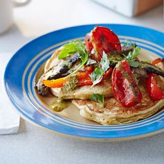 These buttermilk pancakes are incredibly light and fluffy, a low-fat alternative to the traditional pancake recipe. Serve with roasted tomatoes and mushrooms for a great vegetarian brunch. | Tesco