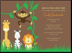Safari Animals:Nutmeg-- adorable invitations