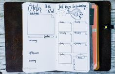 bullet journal weekly layout  Create a weekly theme... Words To Live By -- NTM