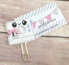 Pink/Blue/Gold/Kawaii Sewing Machine/Felt Applique Paper Clip/Journal Marker/Bookmark/Planner Clip by pinkiebows on Etsy