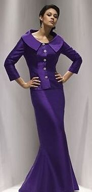 Sarah Danielle Style 5054 Size 18 Plus Size Purple Silk Special Occasion Gown -  2 piece consisting of a long sleeveless tank style dress with a  matching purple jacket.