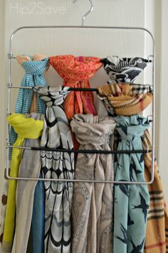 Are you a fellow scarf addict like me (and like Collin)? If so, you may have been wondering how to keep all your beloved scarves off the closet floor and how to go about organizing themwithout tak…